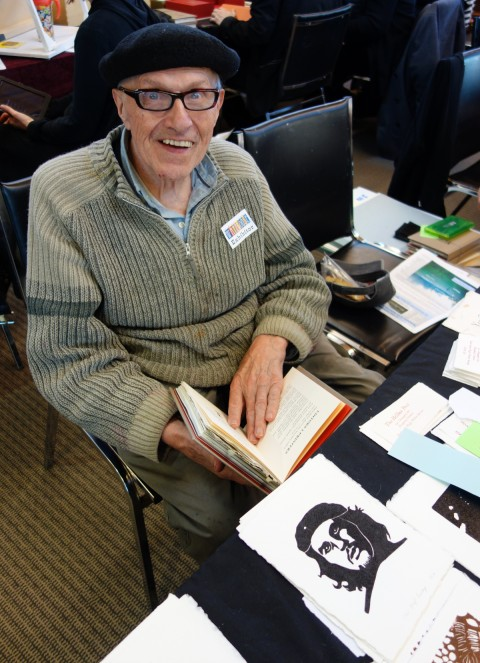 Hugh Barclay of Thee Hellbox Press was there. He happens to be featured in DA 78!