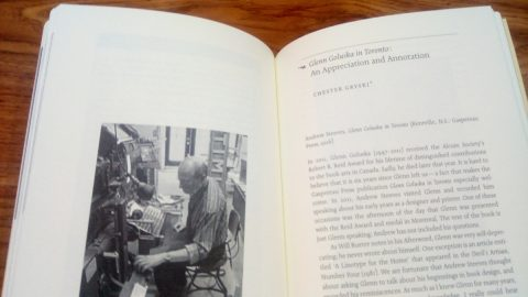 Spread from Chester Gryski's annotation of Glenn Goluska in Toronto