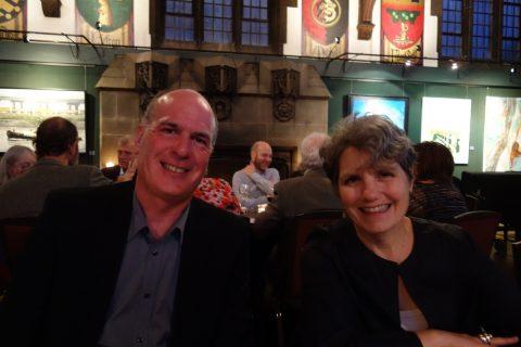 Book designers Peter Ross and Linda Gustafson
