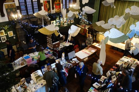 Bird's eye view of Bound Book Art's Fair