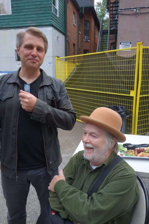 Jay MillAr of Book*hug, with poet Paul Dutton