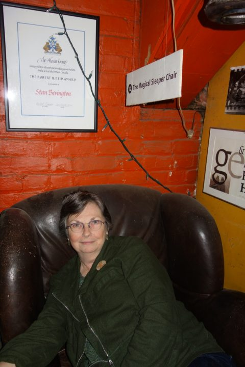 Janis Ford of Ryerson University Library in the Magical Sleeper Chair