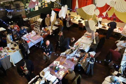 Bird's-eye view of the Bound Book Arts Fair