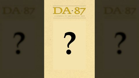 DA 87 cover reveal with blank cover decorated with question mark