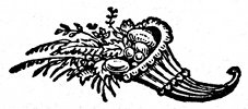 decorative cornucopia engraving