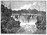 New Brunswick, St. John, waterfall engraving