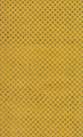 golden yellow endpaper with black star pattern