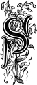 Initial S engraving