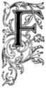 Initial F engraving