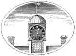 clock tower engraving