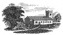 country church engraving