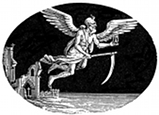 New Year, Father Time engraving