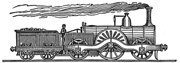 Victorian train engraving