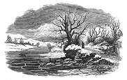 winter path engraving