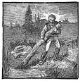 woodsman, dead wood engraving