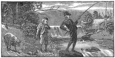 river, fishing engraving