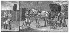 horse and buggy engraving