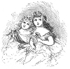 flower girls engraving